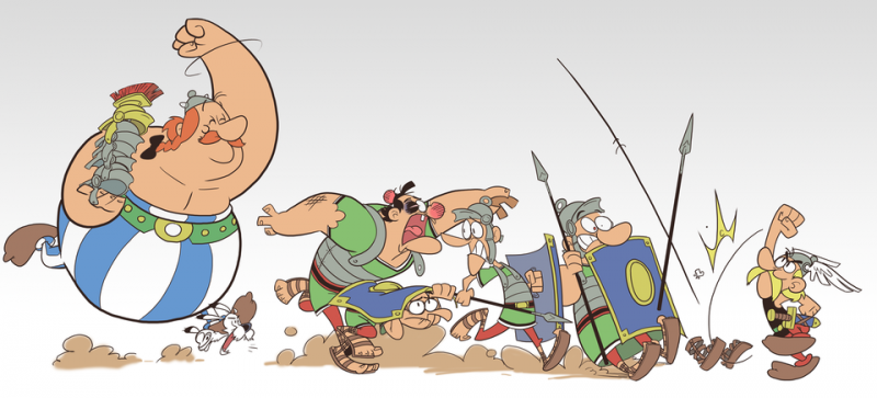 Галлы жарят шашлык из римлян 13